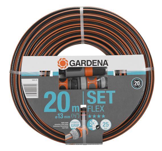 """Gardena Comfort FLEX šļūtene 20m - 13 mm (1/2"""") komplekts"""