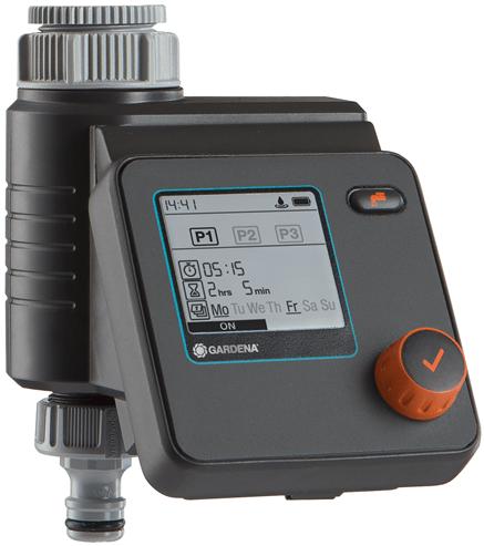 Gardena apūdeņošanas vadība Water Control Select sistēma