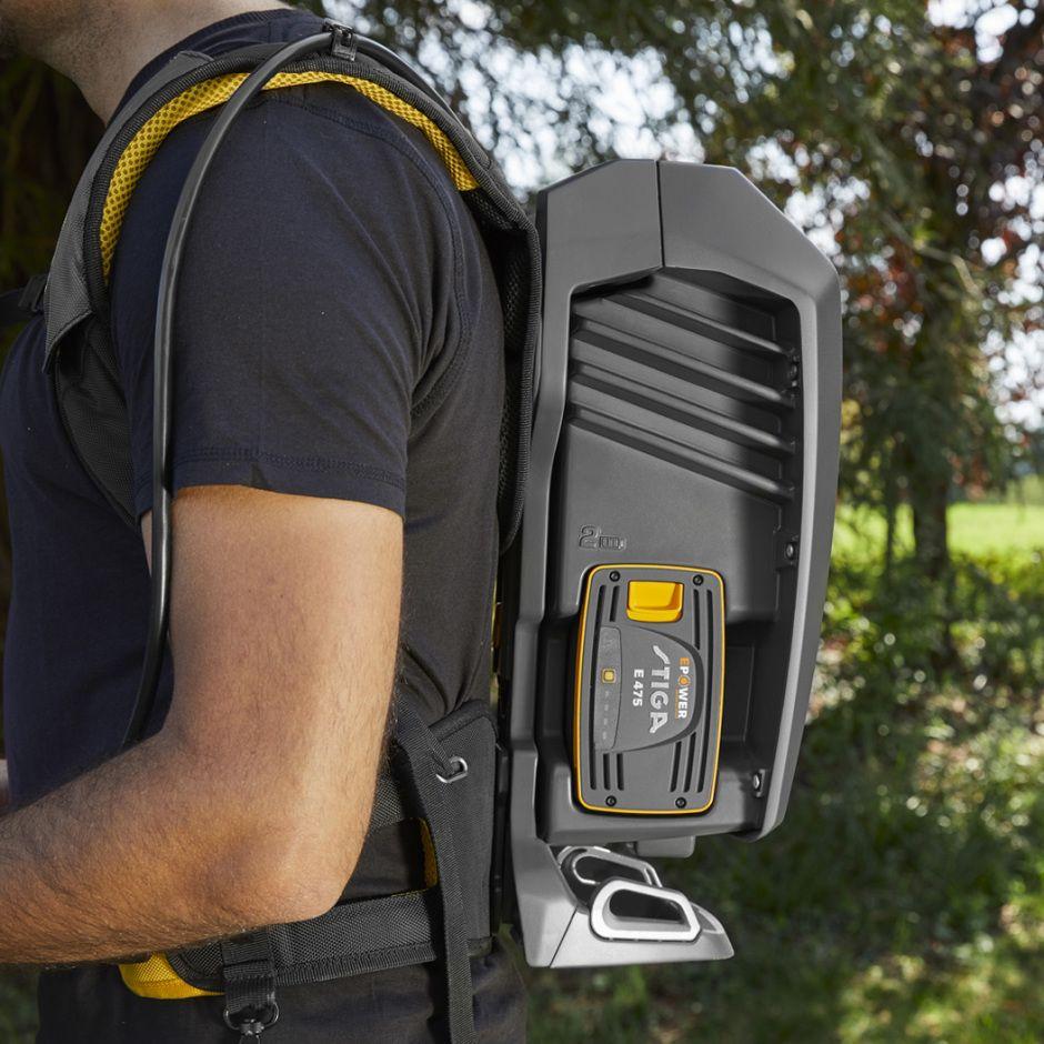 Stiga SBH 900 AE akumulatoru mugursoma - uzkabe