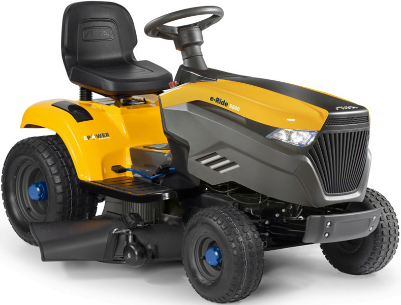 Stiga e-Ride S500 akumulatora darza traktors